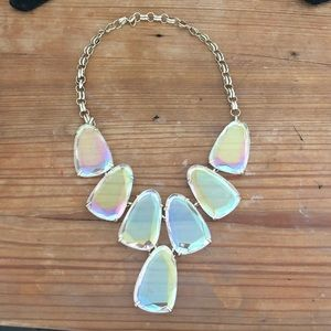 Kendra Scott iridescent gold Harlow necklace